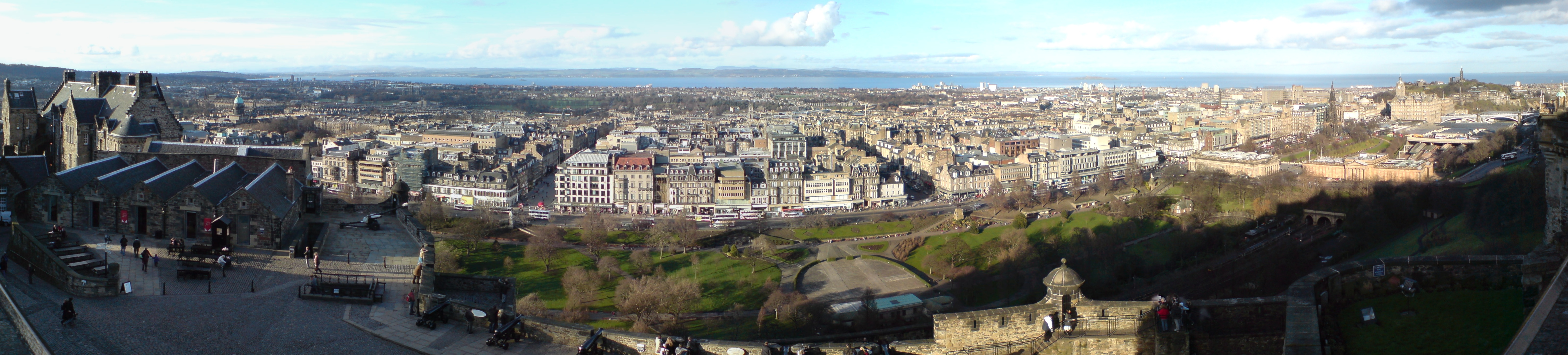 ... trip to edinburgh and the view this time is from edinburgh castle
