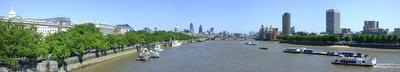 Photo of the River Thames from Waterloo Bridge in London, United Kingdom, taken on 2009-05-30